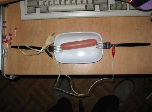 Как пожарить сосиски
