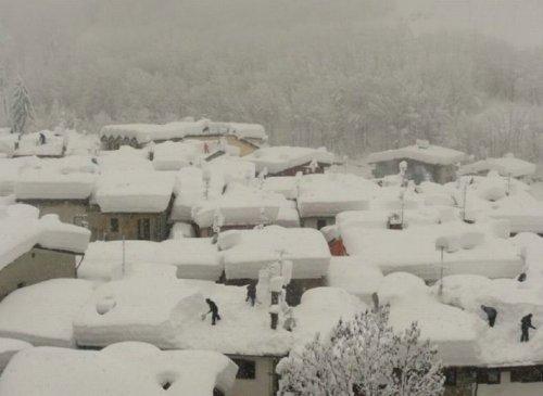 Снегопад в Италии