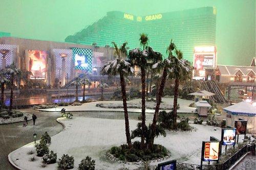 Снег в Лас-Вегасе