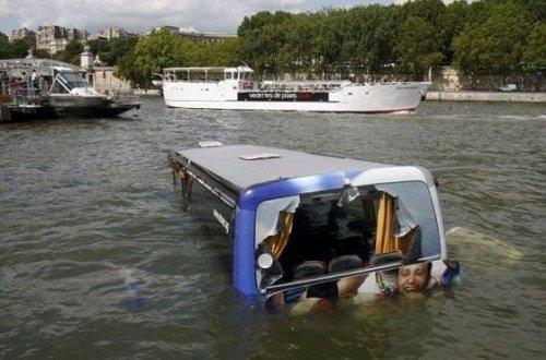 Автобус под водой
