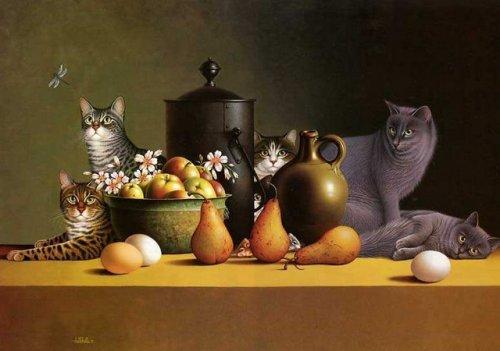 Рисунки кошек и собак от Braldt Bralds