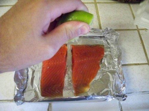 Необычный способ запекания рыбы