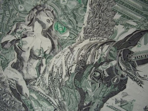 Мозаика из банкнот
