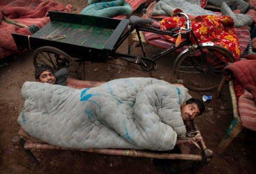 Уличная общага в Индии